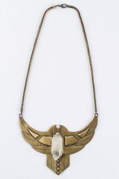 Thunderstruck Crystal Chestplate – Brass