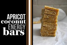Apricot Coconut Energy Bars