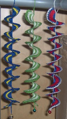 Crochet spiral with/without beads for windows or earrings spirals, window, mobil, beads, crochet patterns, cat toys, earrings, crochet spiral, sewing patterns