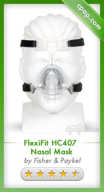 "The HC407 offers further advances to the Fisher & Paykel line of CPAP masks. It features the same ""Fit and Forget"" technology that combines a unique foam cushion shape and headgear design for a comfortable, stable fit. Click on the image above for more information! newli releas, sleep apnea, cpap mask, masks, rate cpap, cpap machin, health, cpap product, top rate"