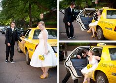 Yellow flowers yellow cab