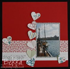 I heart Malta Scapbook Page by Bekka featuring the scrummy Twitterpated Papers from  Stampin' Up!  Check Up her Scrapbook Club