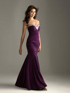 (NO.008063)2011 Style Trumpet / Mermaid Sweetheart  Floor-length Sleeveless Chiffon  Prom Dress / Evening Dress