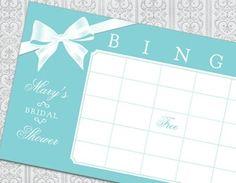 Tiffany Bridal Shower Bingo Game