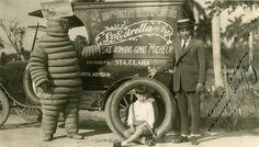 bibendum michelin bonhomme michelin 1900 2   Lhorrible bibendum Michelin de 1900   pneu photo michelin image bonhomme bibendum avant après 1...