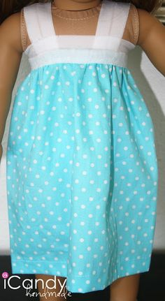 "(tutorial) American Girl Doll ""Pillowcase"" Nightgown - iCandy handmade"