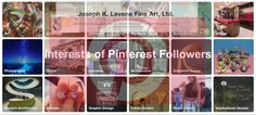 Pinterest #Analytics indicate interests of Joseph K. Levene Fine Art, Ltd. | #JKLFA Followers: #Art #Drawings #StreetArt #HomeDecor #illustrations #Photography #Travel #Furniture #IndustrialDesign #ModernArchitecture #Fashion #GraphicDesign #FunnyQuotes #StreetStyles