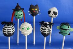 Halloween cake pops. I could turn the skeleton into Jack skellington from Nightmare before Christmas :)