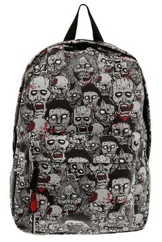 zombi backpack, backpack schoolstuffbackpack, backpacks, style, children, glowinthedark zombi, zombies, thing, hot topic