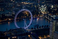 The London Eye and night