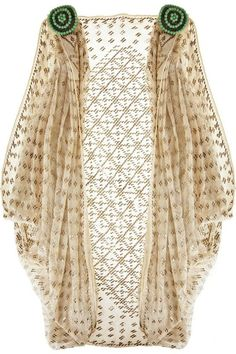 Egyptian Art Deco Cotton Shrug - 1920's - @~ Watsonette