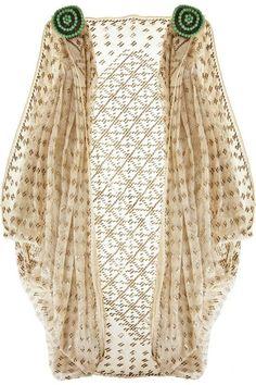Egyptian Art Deco Cotton Shrug - 1920's - @~ Watsonette