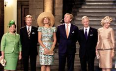 Celebration of 200 Years of the Kingdom of The Netherlands, August 30, 2014-GD Maria Teresa, GD Henri, Queen Maxima, King Willem-Alexander, King Philippe, Queen Mathilde