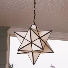 Superior Moravian Star Hanging Light -  SOL - entry & hall $455