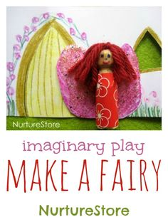 A lovely way to make a beautiful fairy. So simple, kids can make their own designs.
