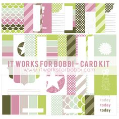It Works For Bobbi!: A Free Digital Pocket Scrapbooking Mini Kit - A Way To Give Back