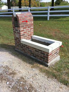 Brick mailbox.