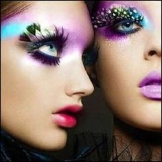 crazy eye makeup pictures colourful look