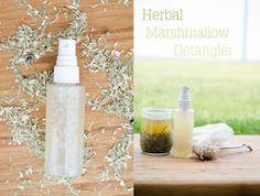 Herbal marshmallow root hair detangler