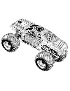 Landons 4th on pinterest monster trucks monsters and for Maximum destruction coloring pages