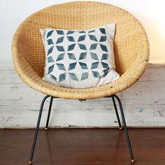 Mid Century Modern Wicker Hoop Chair