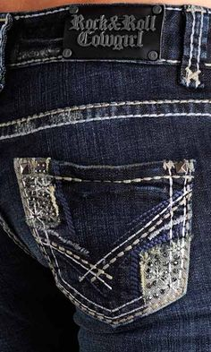These are super cute. Rock & Roll Cowgirl Jeans.