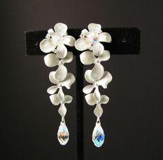 Silver Orchid Earrings..omg love!