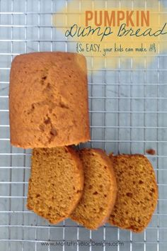 Pumpkin Dump Bread--this is SO easy your kids can make it by themselves! | www.MoritzFineBlogDesigns.com