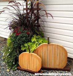 Use scrap lumber to make these adorable Recycled wood Pumpkins.