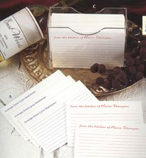 Lined Recipe Cards #StationeryStudio