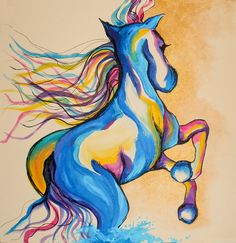 . canva art, hors tattoo, water hors, hors art, wild hors, painted canvas