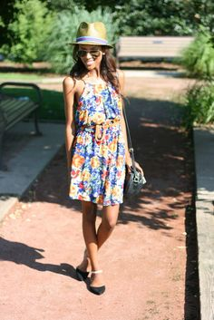 A floral dress and fedora are summertime staples. #maxxinista look by @LuminousPrep