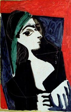 #Picasso #Portrait of Jacqueline