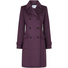 L.K. Bennett Clare Wool Double Breasted Long Coat ($475) ❤ liked on Polyvore