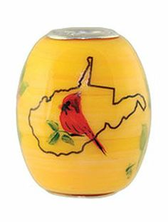 Fenton Art Glass - Celebrate West Virginia bead