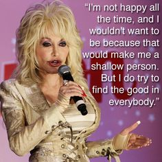 Dolly Parton on being happy.