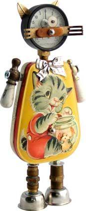 cats, artists, object robot, dates, copper, paper tags, craft idea, births, design