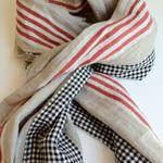 fashion, easi accessori, linens, street linen, scarves, linen scarf, south street, picnic, black check