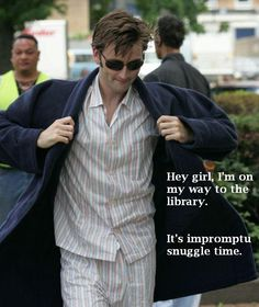 David Tennant. Hey Girl. Library. Snuggle. Love