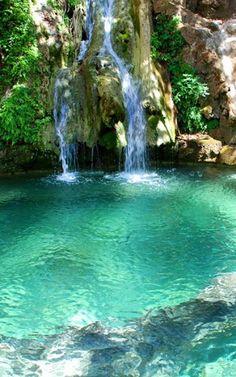 Waterfalls of Fonissa in kythera Island (Ionian), Greece