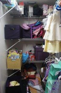 Children's closet: before