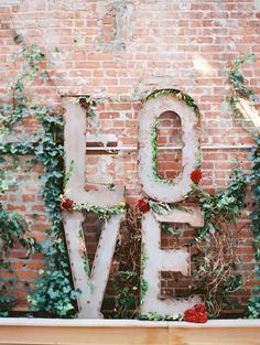 inspiration, big letters, receptions, valentine day, wedding decorations, weddings, gardens, wedding signs, flower