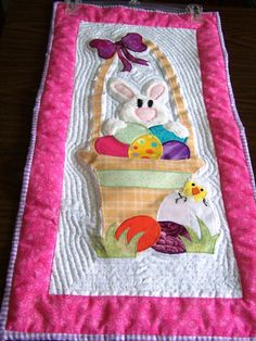 Handmade Appliqued Easter Wall Hanging by QuiltsForAllReasons, $38.00