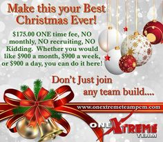 I don't know about you but it sure is nice having extra money this time of year :)  #onextremeteam #kristinepierce #imommysuccess #onextreme