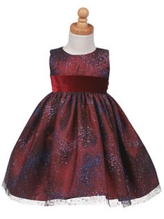 Burgundy  Glittered Tulle  Party Dress at Adorable Baby Clothing http://www.adorablebabyclothing.com/special/LTC922B.html #holidaydress #specialoccasiondress #flowergirldress