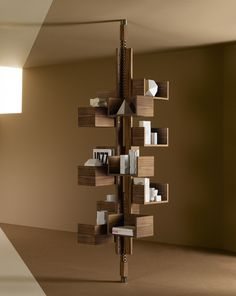 Modern Free-Standing Bookcase Designed to Mimic a Tree