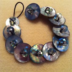 diy button bracelets, artists, homemade christmas gifts, bead amp, diy shell