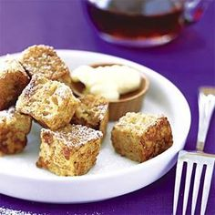 French Toast Bites - We love this kid-friendly French toast created by Cindy Bates. Regular French toast can be soggy in the middle, but bite-size cubes mean more crispy surface area.