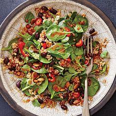 "Spicy Bean and Quinoa Salad with ""Mole"" Vinaigrette | MyRecipes.com"