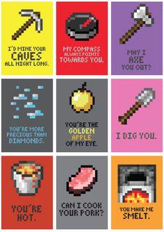 minecraft valentine cards | Minecraft Valentine's Day Cards